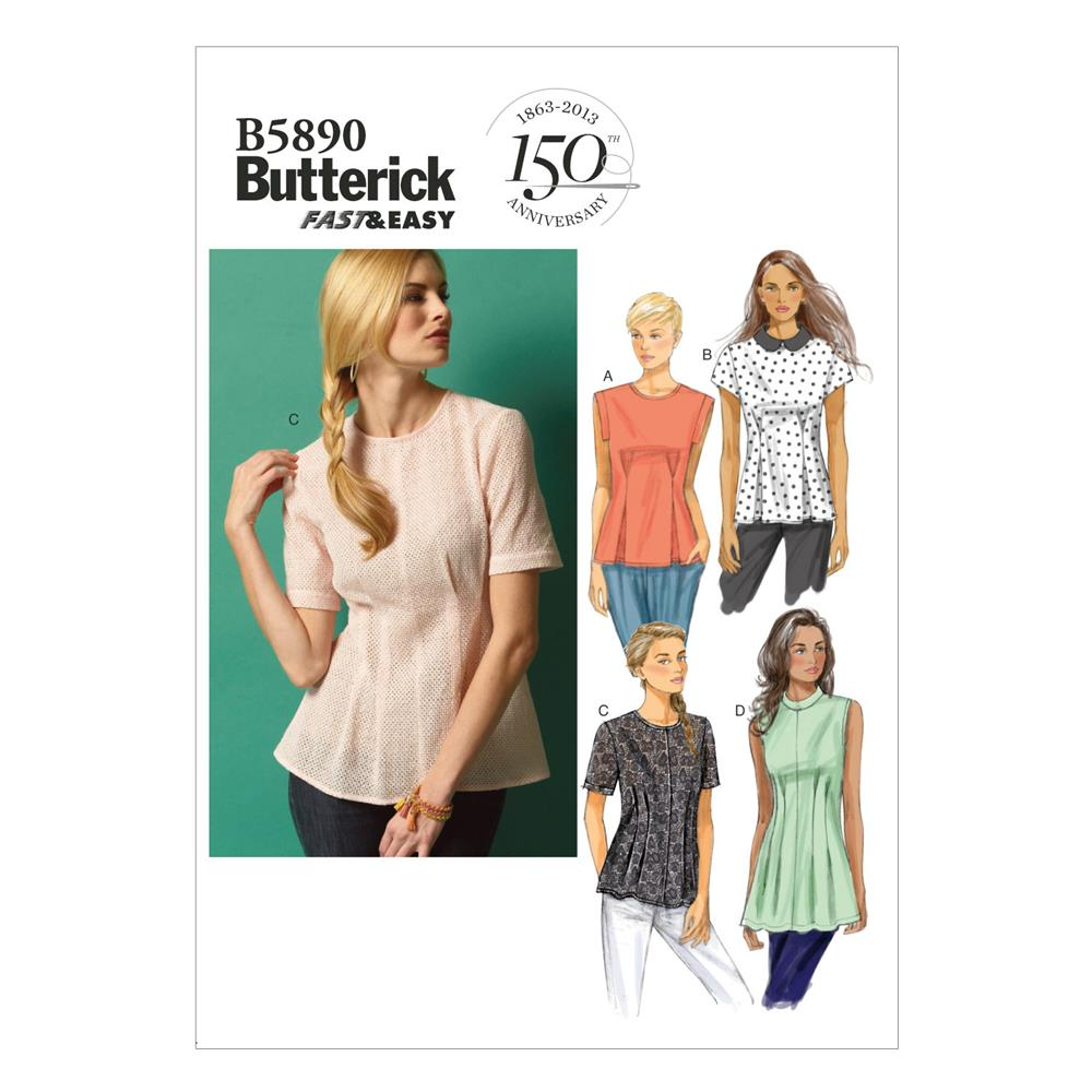 Butterick Misses'/Misses' Petite Top and Tunic Pattern B5890 Size A50