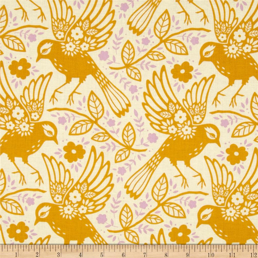 Heather Bailey Up Parasol Meadowlark Tangerine