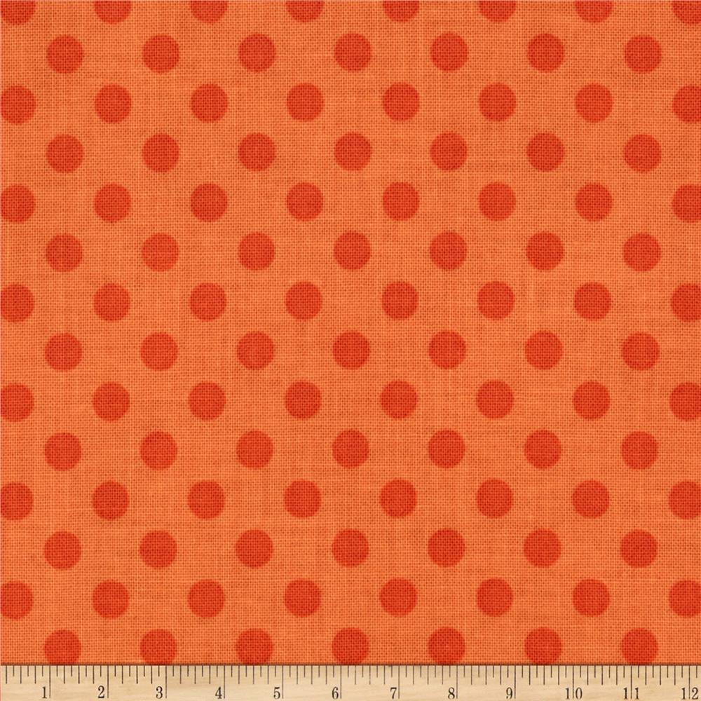 Riley Blake Basics Small Dots Tone on Tone Orange