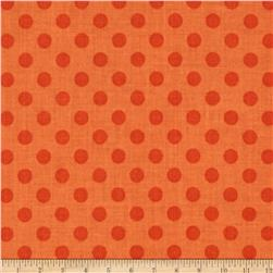 Riley Blake Basics Small Dots Orange
