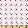 Riley Blake Swiss Dots White/Red