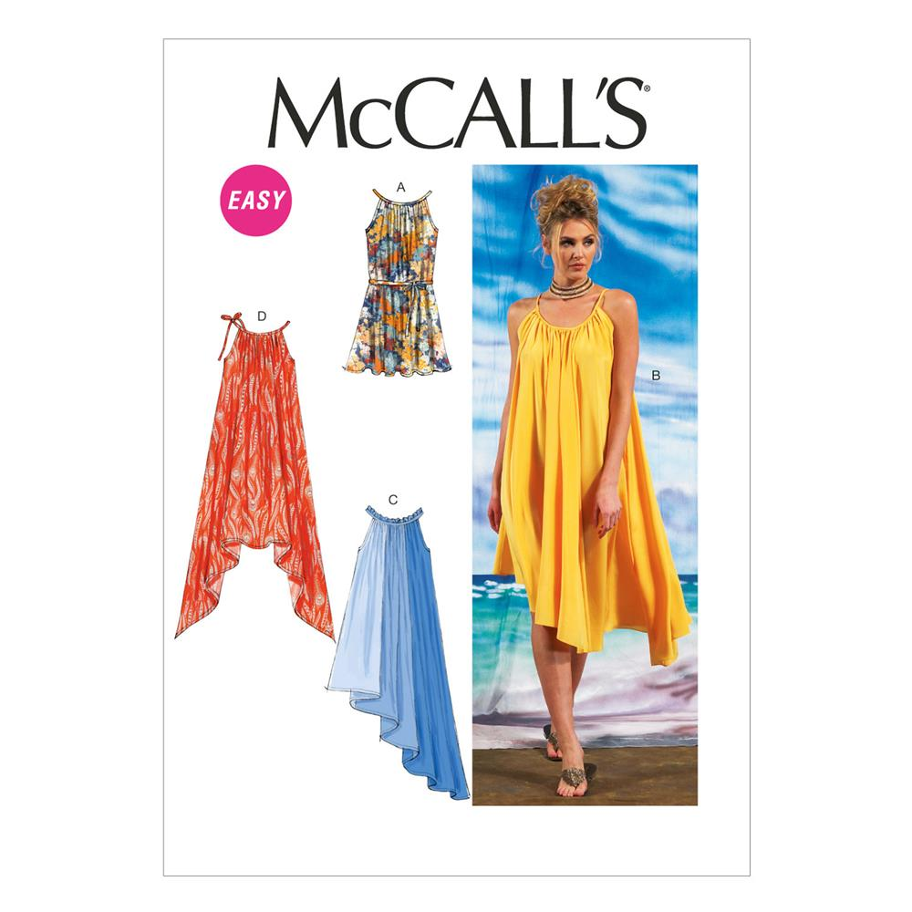 McCall's Misses' Dresses and Belt Pattern M6743 Size 0Y0
