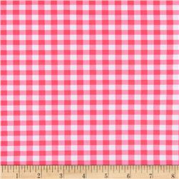 St. Maarten Swimwear Knit Gingham Pink/White