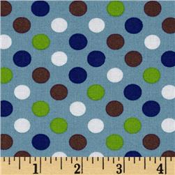 Kaufman Spot On Medium Dot Denim Fabric