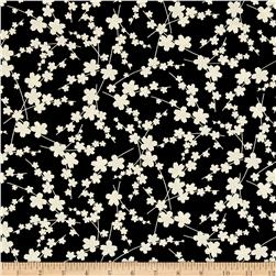 Kanvas Moon Flower Blossom Silhouette Black/Cream