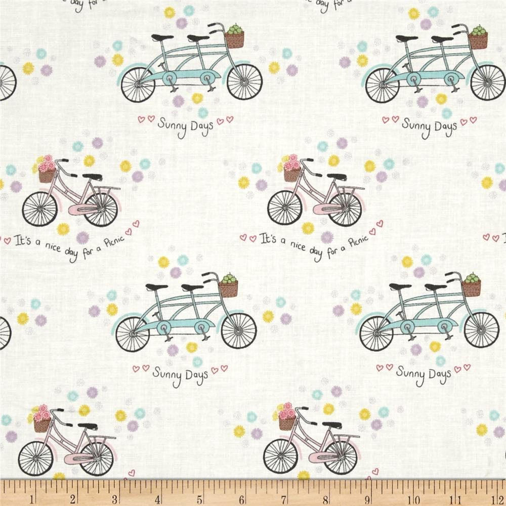 Picnic In The Park Bicycles & Flowers Cream