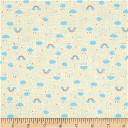 Lecien Minny Muu TIny Clouds and Raindrops Yellow