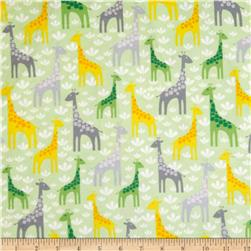 Robert Kaufman Wild Bunch Flannel Giraffes Nature