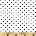 Stretch Bamboo Rayon Jersey Knit Polka Dot White/Black