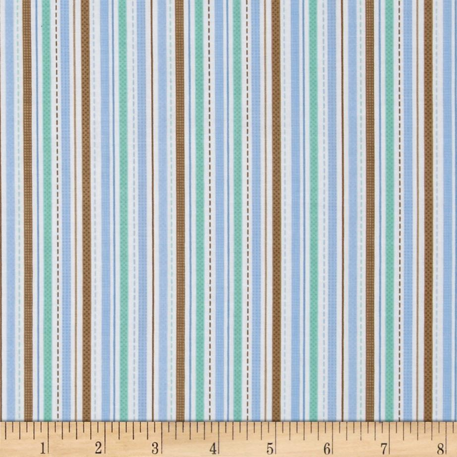 Riley Blake Snips & Snails Stripes Blue
