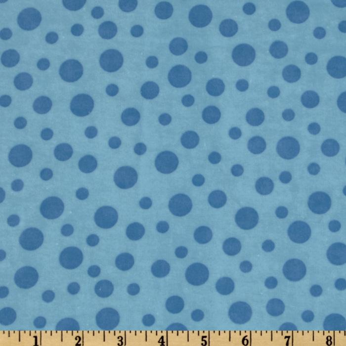 Alpine Teddy Bear Sports Flannel Dots Blue
