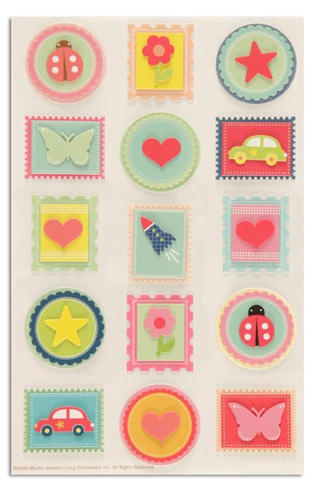 Martha Stewart Crafts Stickers Bright Stamps