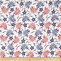 Patriotic Prints Fireworks Blue