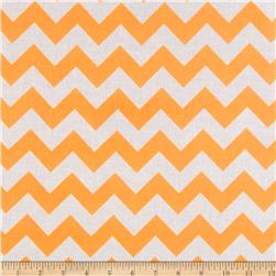 Riley Blake Laminate Chevron Neon Orange