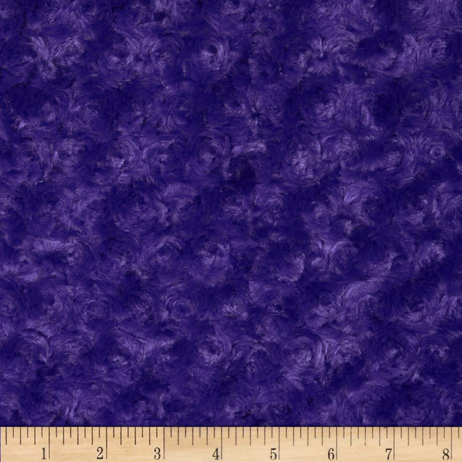 Shannon minky rose cuddle purple discount designer for Where to order fabric