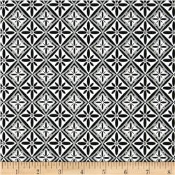 Black White & Currant 5 Tile Black &