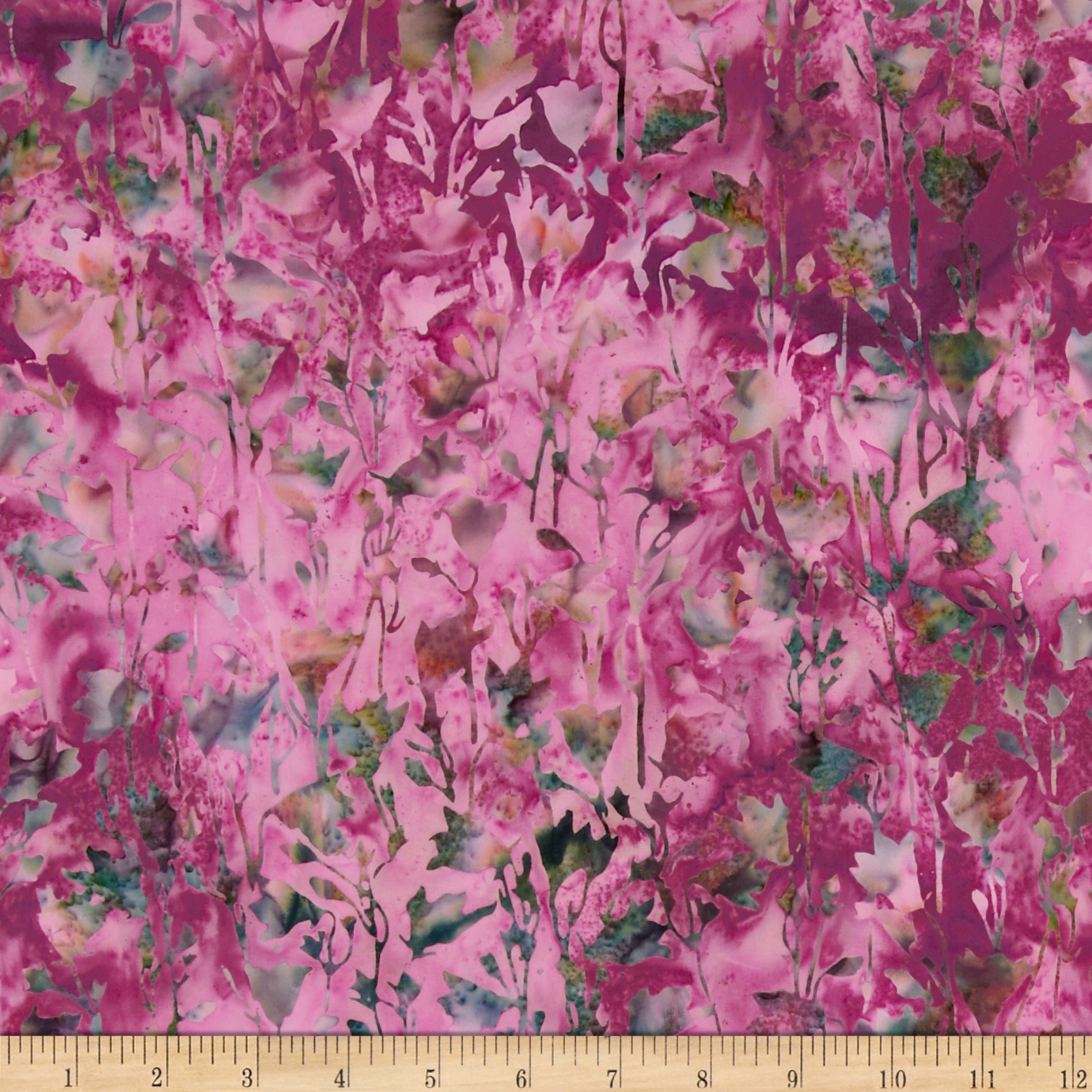 Bali Batiks Handpaints Pressed Flowers Primrose Fabric