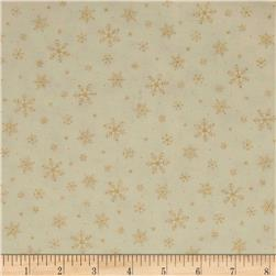Under The Christmas Tree Snow Flakes Metallic Gold