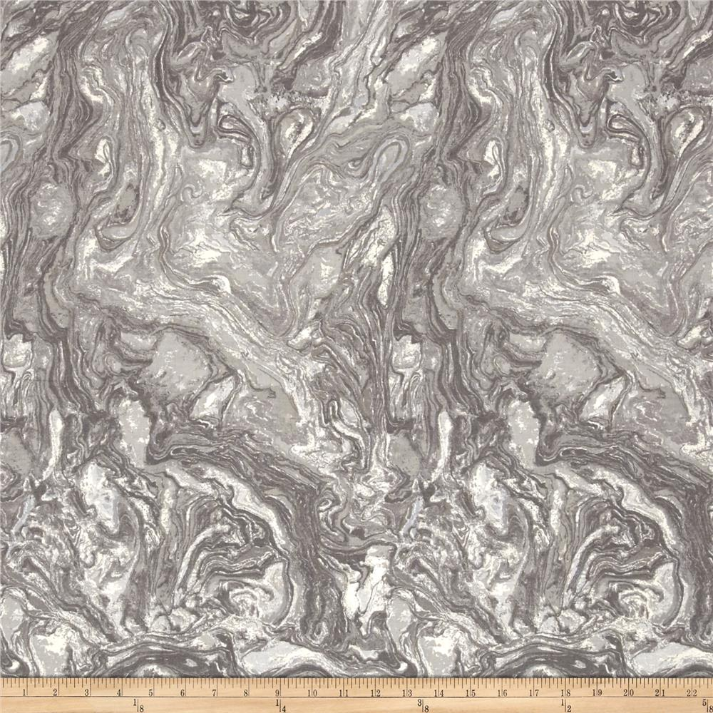 "118"" Wide Quilt Back  Marble Silver"