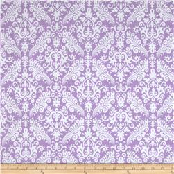 Riley Blake Flannel Medium Damask Lavender