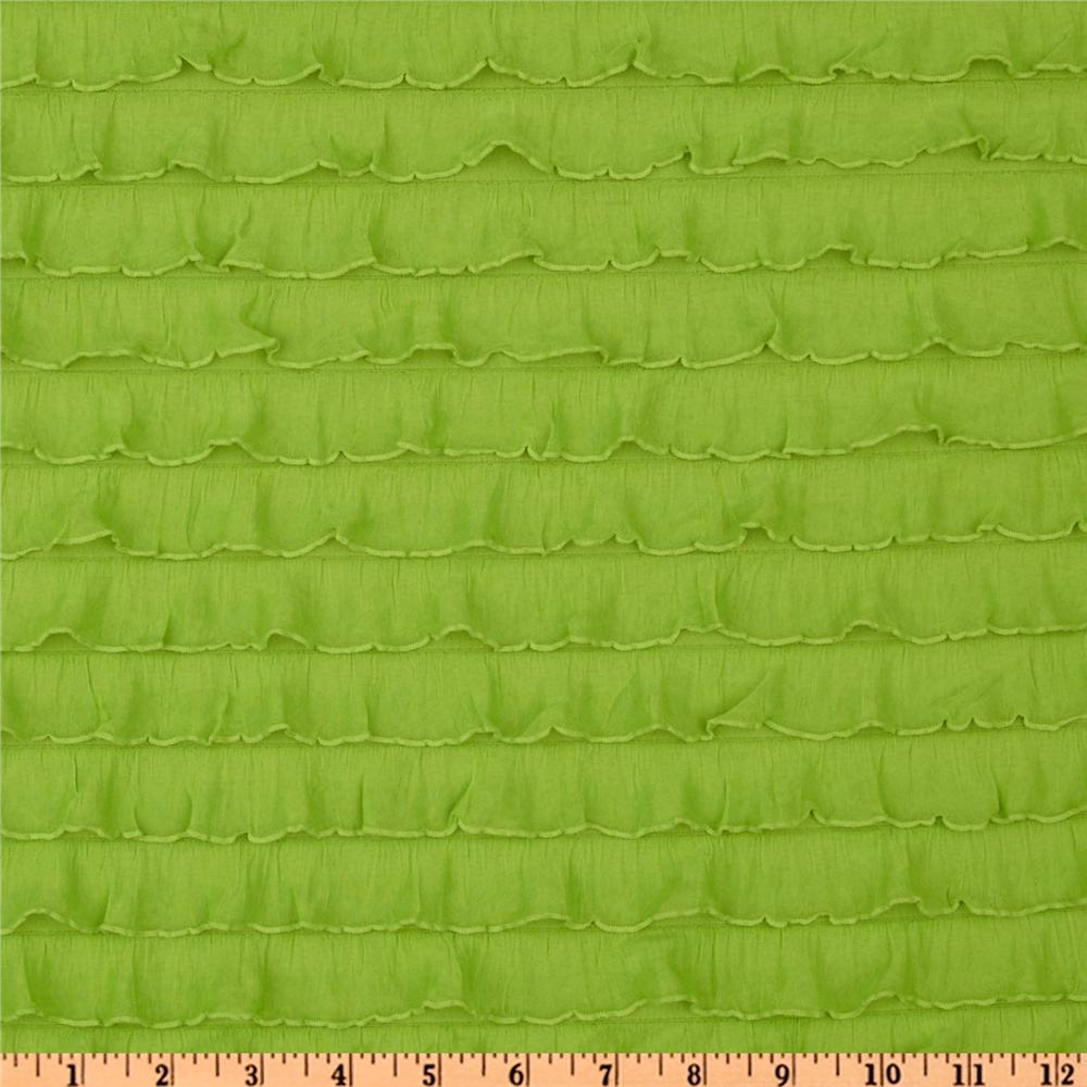Stretch Ruffle Knit Lime