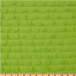Stretch Ruffle Knit Lime Fabric
