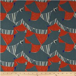Kokka Echino Canvas Bird Banner Gray