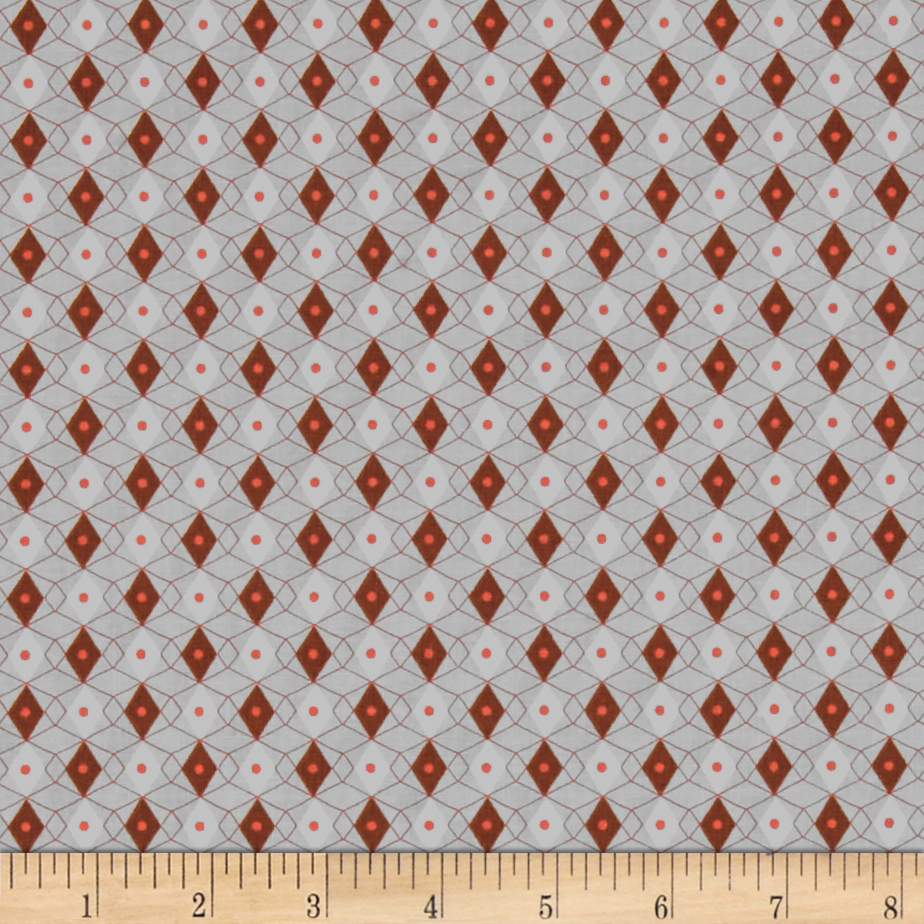 Image of Cotton + Steel Rotary Club Facets Rust Fabric
