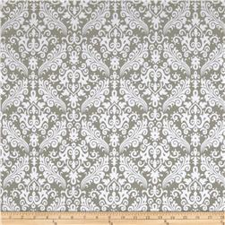 Riley Blake Flannel Medium Damask Gray