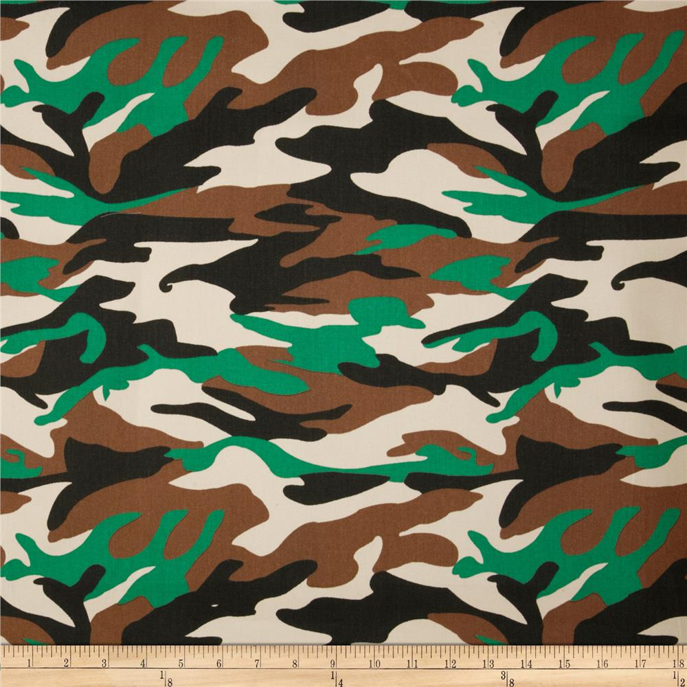 Textile Creations Camouflage Twill Brown/Black