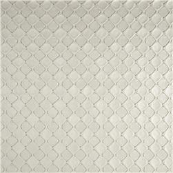 Luxury Faux Leather Raised Diamonds White