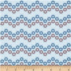 Mod Geek Neutron Zig Zag Retro Blue Fabric