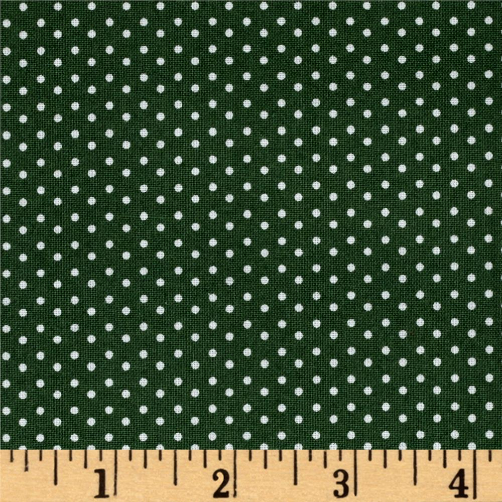 Woodland Christmas Dot Green