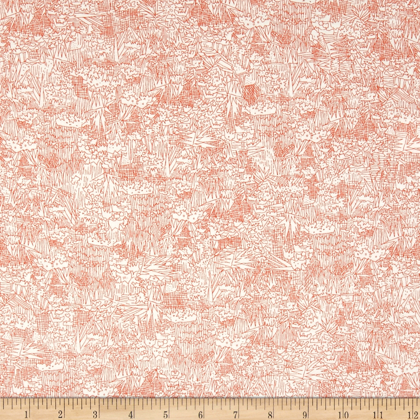 Kaufman Friedlander Collage Tangerine Fabric