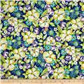 Pretty As A Peacock Floral Cobalt