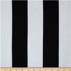 Soft Jersey Knit Large Stripes White/Black