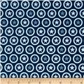 Riley Blake Lucky Star Circle Navy