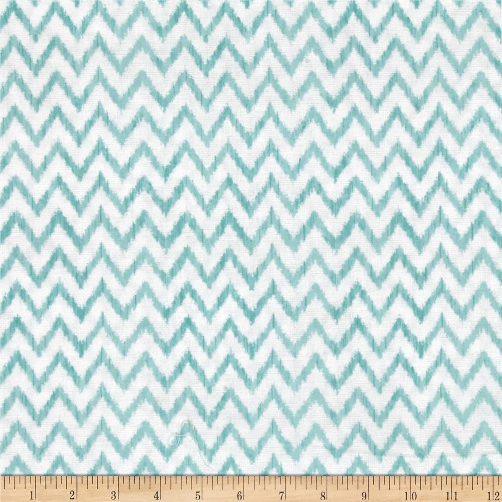 To The Moon & Back Chevron White/Aqua