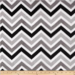 Minky Cuddle Zig Zag Black/Silver/Snow