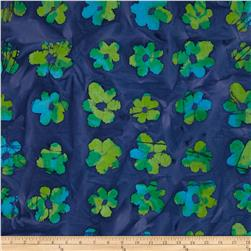 Indian Batik Flowers Green/Violet