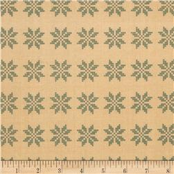 Moda Nature's Basket Woven Star Sampler Yarrow-Sky