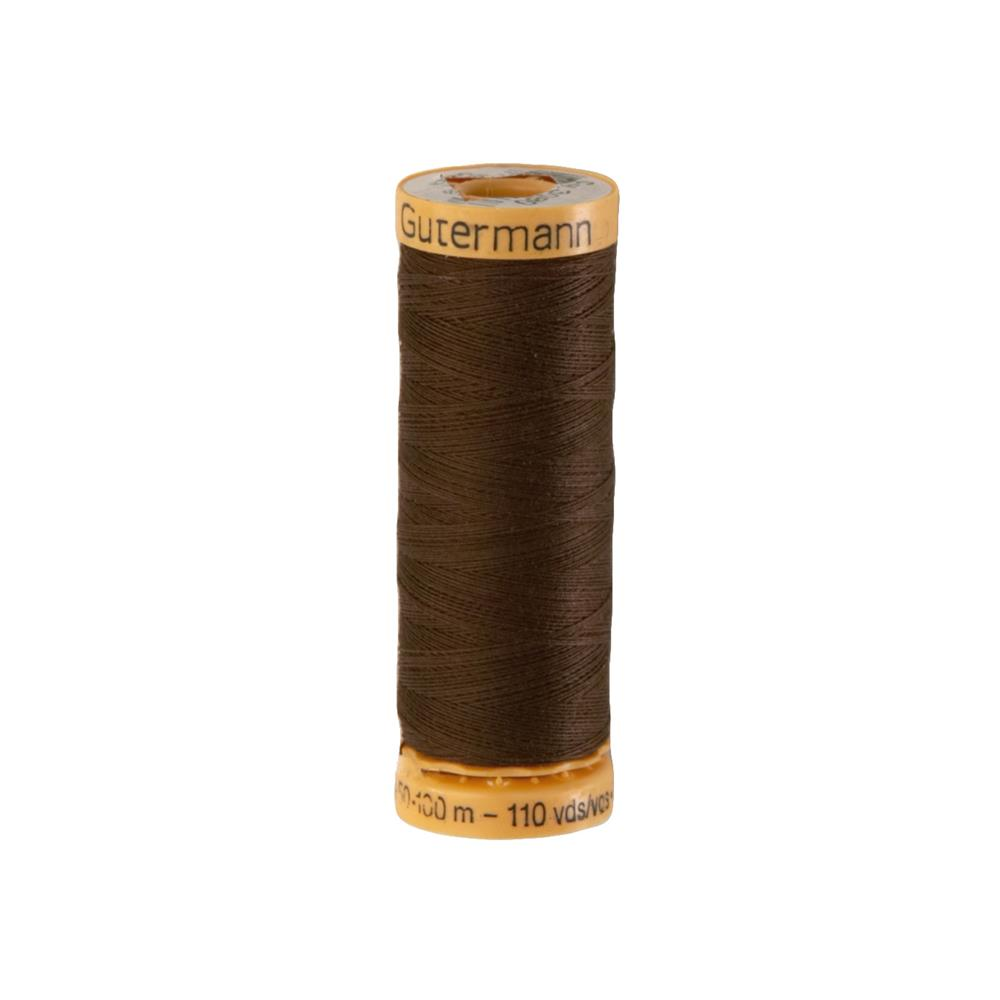 Gutermann Natural Cotton Thread 100m/109yds Medium Dark Brown