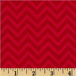 Riley Blake The Sweetest Thing Jersey Knit Chevron Red