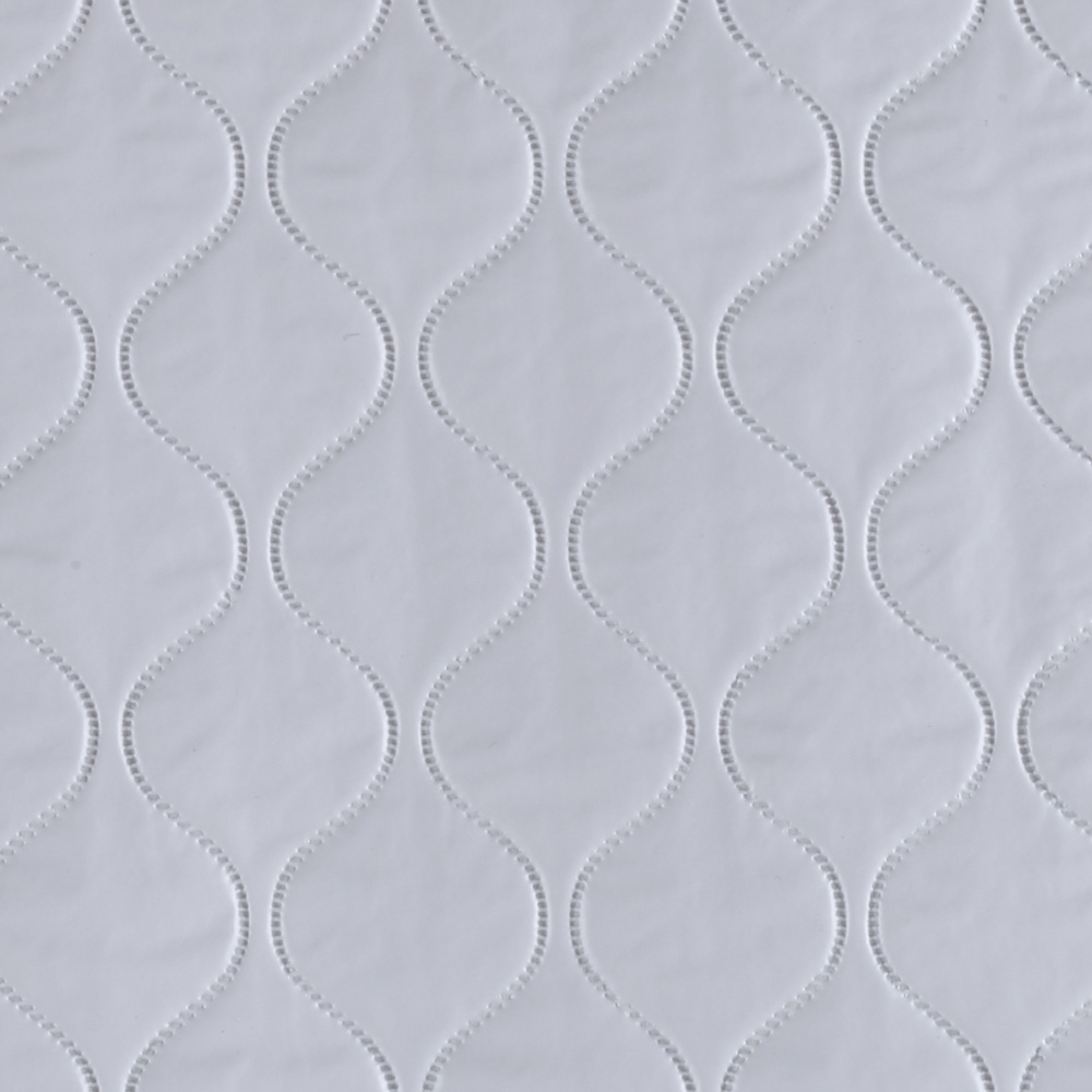 Quilted Vinyl Pale Blue Fabric