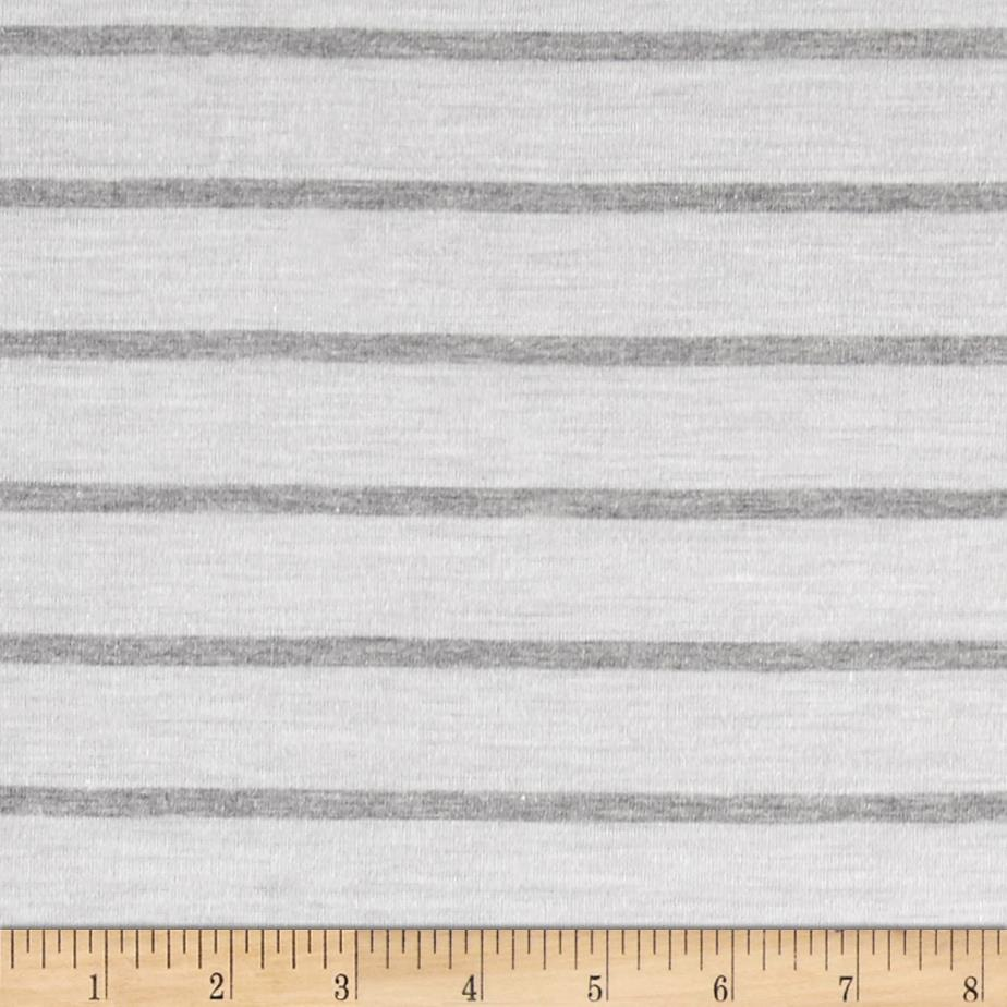 Jersey Knit Stripes White/Grey