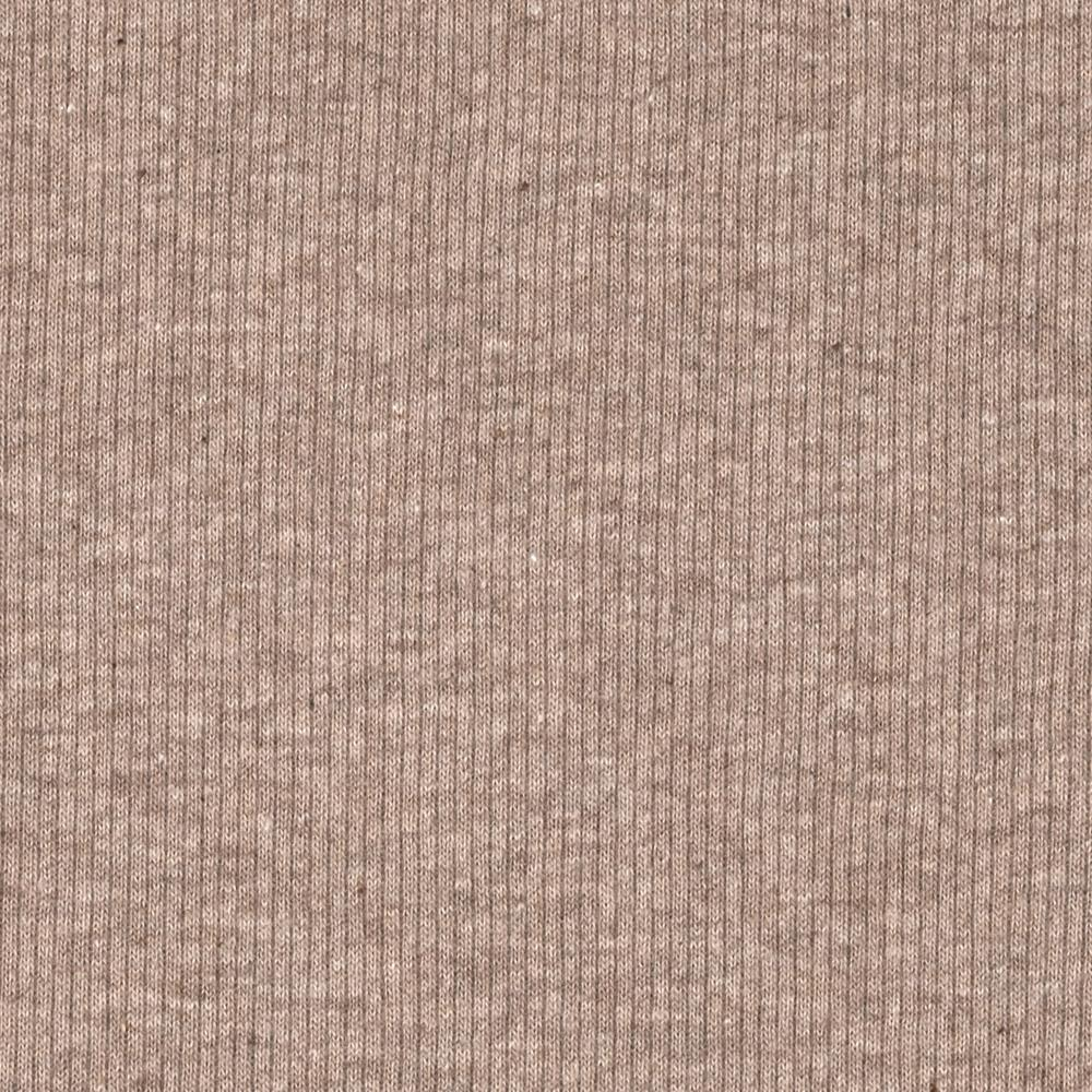 Basic Cotton Rib Knit Heather Taupe