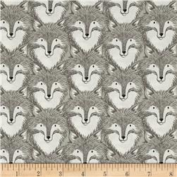Cotton+Steel Magic Forest Foxes Grey