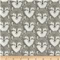 Cotton + Steel Magic Forest Foxes Grey