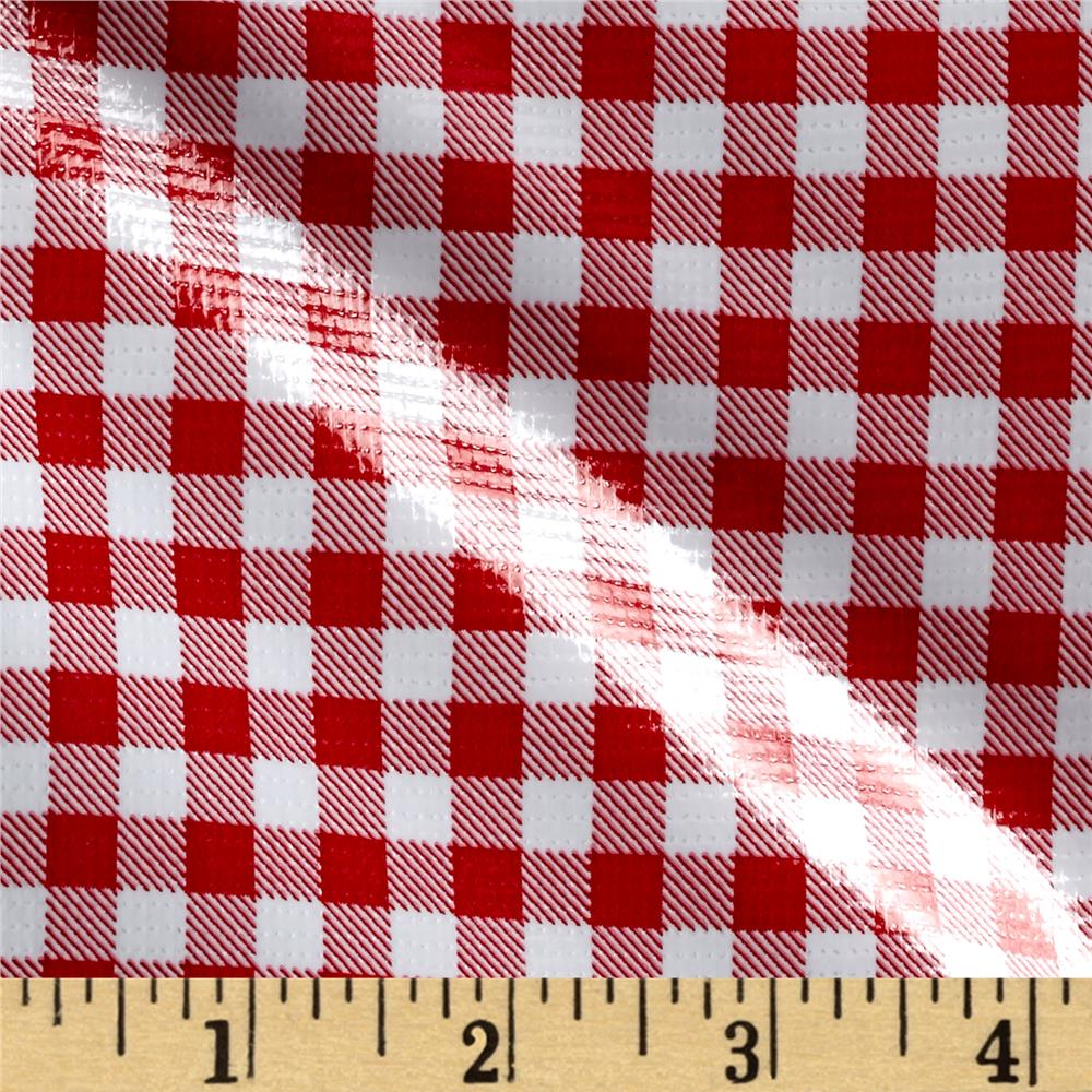 Oil Cloth Gingham Red