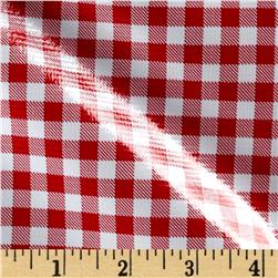 Oil Cloth Gingham Red Fabric